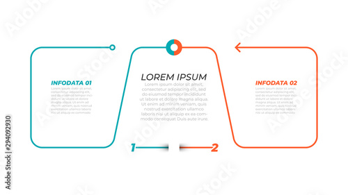 Photographie  Vector infographic thin line element for infographic