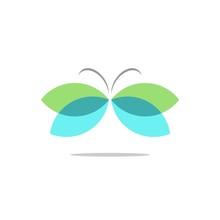 Green Butterfly Logo Template Illustration Design. Vector EPS 10.