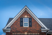 Gable With Red Brick Facade Si...