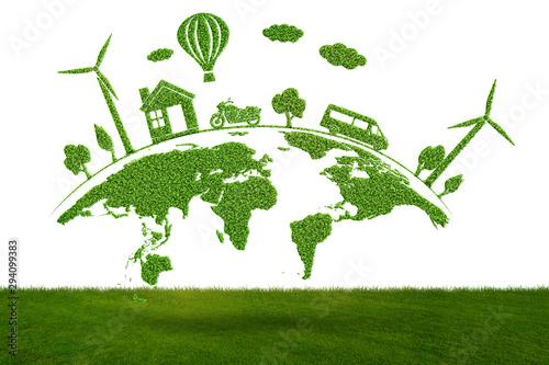 Obraz Concept of environmental protection - 3d rendering - fototapety do salonu