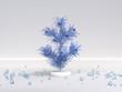 Leinwanddruck Bild white scene wall floor blue christmas objects decoration 3d rendering