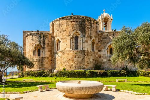 Obraz Medieval stone Church of St John the Baptist, Byblos, Jbeil, Lebanon - fototapety do salonu