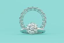 Solitaire Round Cut Diamond En...