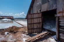 Salt Fiedl In Kampot Province,...