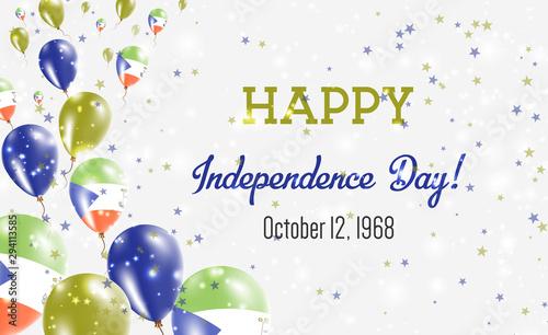 Fotografía Equatorial Guinea Independence Day Greeting Card