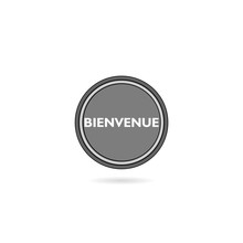Bienvenue Flat Button Isolated On White Background