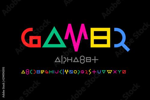 Fotografie, Obraz  Game style font