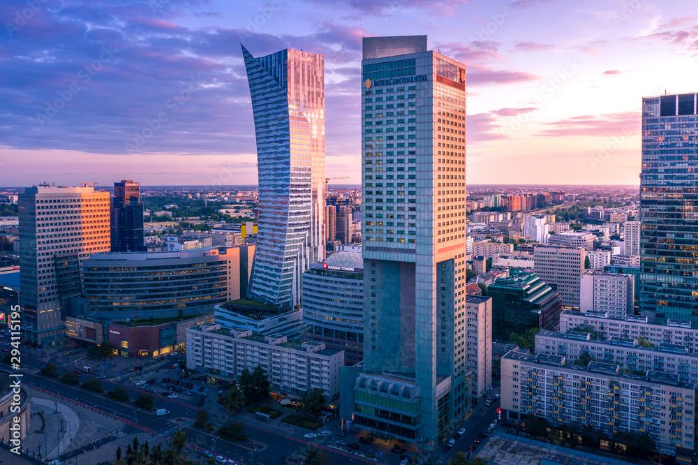 Fototapeta Warszawa z lotu ptaka