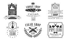 Set Of Logos For Smoking And H...