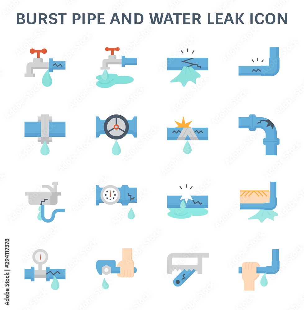 Fototapeta burst pipe icon