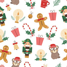 Vector Seamless Pattern Of Chr...