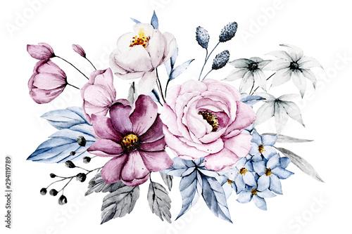 rozowe-i-niebieskie-kwiaty-liscie-akwarela-kwiatowy-clipart-bukiet-idealnie-nadaje-sie-do-nadruku-na-zaproszeniach-kartach-na-scianach-i-innych-pojedynczo-na-bialym-tle-malowanie-reczne