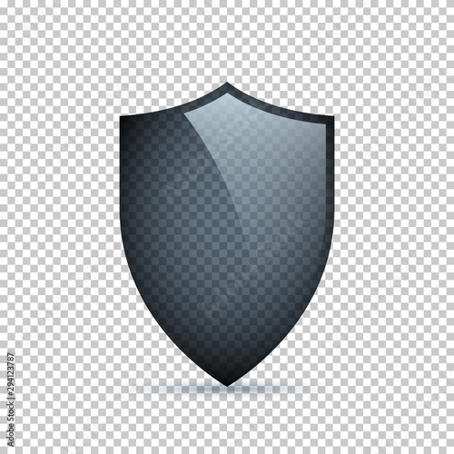 Glass shield isolated on transparent background Fototapet
