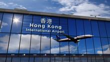 Airplane Landing At Hong Kong ...