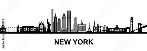 Fototapeta New York, Skyline obraz