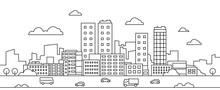 Line City Landscape. Urban Cit...
