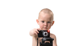 Child Using A Camera