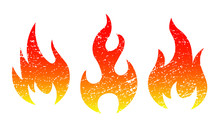 Grunge Fire Flame Vector Illus...