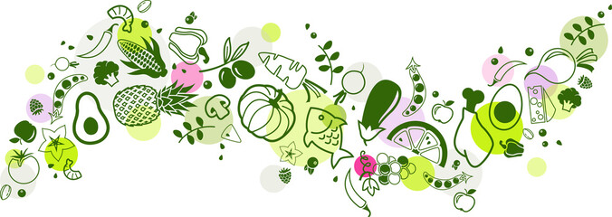 food banner green - healthy...