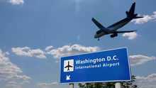 Plane Landing In Washington D....
