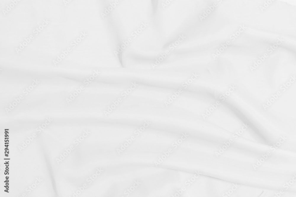 Fototapety, obrazy: White crumpled blanket texture background. White cloth background
