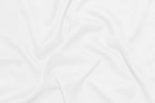 White Crumpled Blanket Texture Background. White Cloth Background