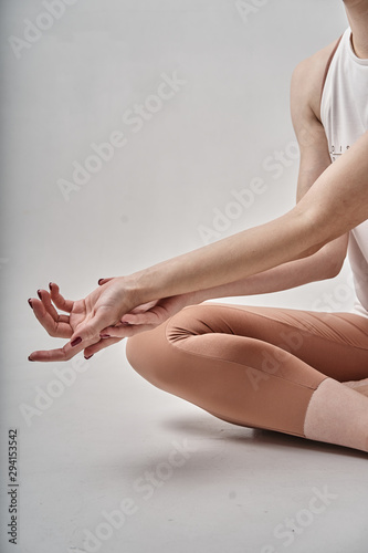 Recess Fitting Spa legs of young woman