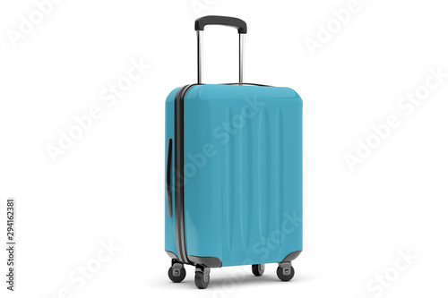 Fotografiet Isolated suitcase on a background