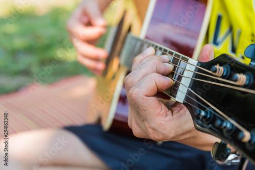 Fotografie, Obraz  play the guitar music