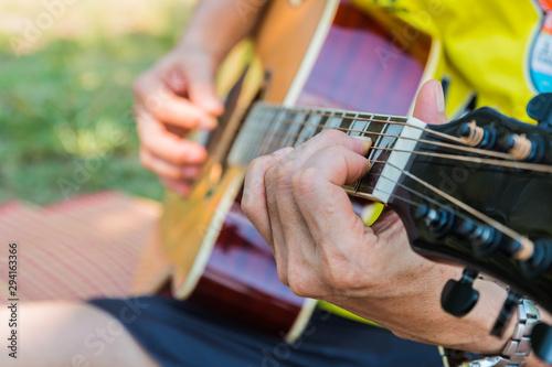 play the guitar music Tapéta, Fotótapéta