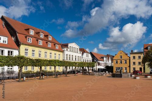 Fotografie, Obraz  Der Marktplatz von Barth; Landkreis Vorpommern-Rügen; Deutschland