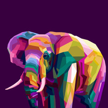 Colorful Elephant Pop Art Port...