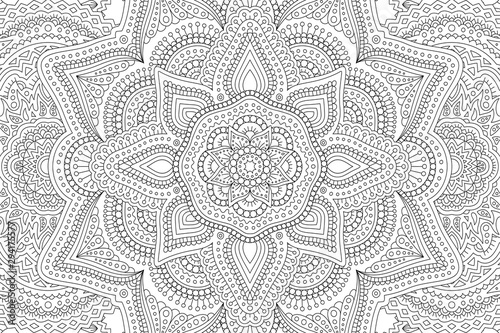 Leinwand Poster Art for adult coloring book with abstract pattern