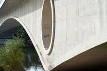 Spain, Poetas Bridge Autumn Olivares City Park Zamora