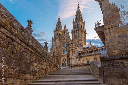 Canvas Print Santiago de Compostela Cathedral, Galicia, Spain
