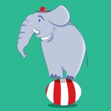 Elephant Cartoon Character, Funny and Cute (Vector Art)