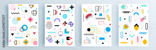 Fotografie, Obraz Modern abstract covers set, minimal covers design