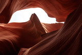 Antelope Canyon on Navajo land east of Page, Arizona. It is a slot canyon in the American Southwest. Lower Antelope has narrow slots and carved shoots.