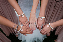 Four Woman's Hand With Heart B...