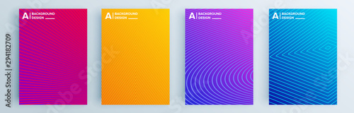 Photo  Modern abstract covers set, minimal covers design