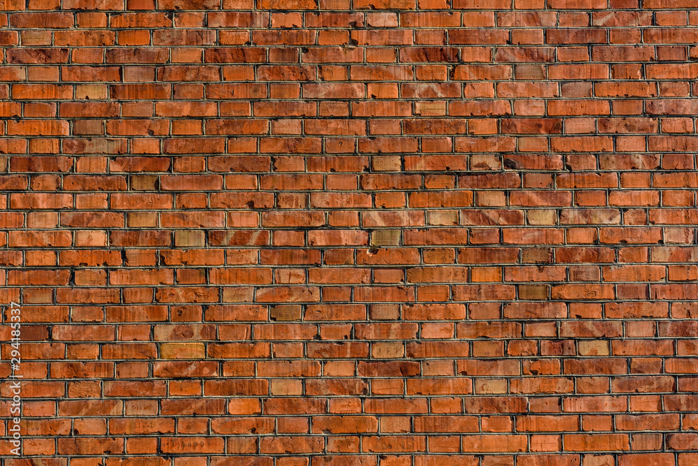 Fototapeta Old wall of the red bricks for background