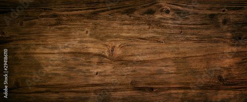 Obraz Dark textured wood background - fototapety do salonu