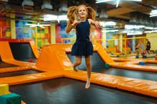 Adorable Little Girl Bouncing ...