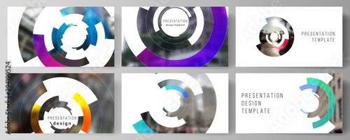 Minimalistic abstract vector illustration of editable layout of the presentation slides design business templates Wallpaper Mural