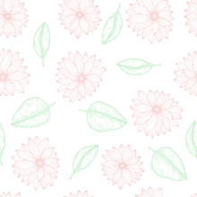 Floral Seamless Template Endle...