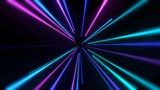 Colorful neon lines abstract background