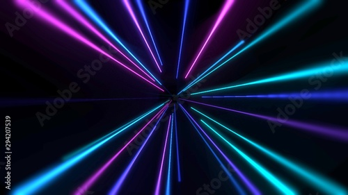 Colorful neon lines abstract background Tablou Canvas