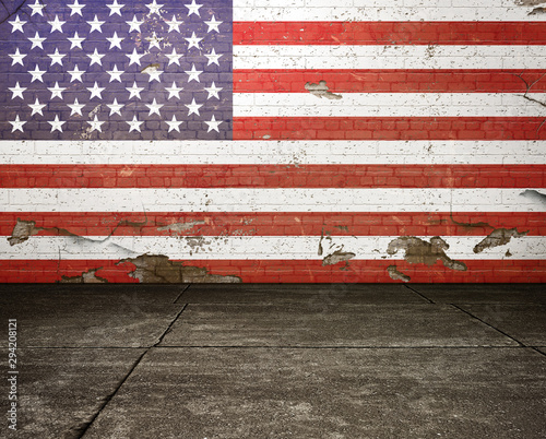 Wall Murals Amsterdam Usa Flag
