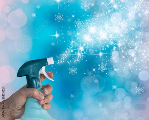 Obraz na plátně conceptual de limpieza e higiene