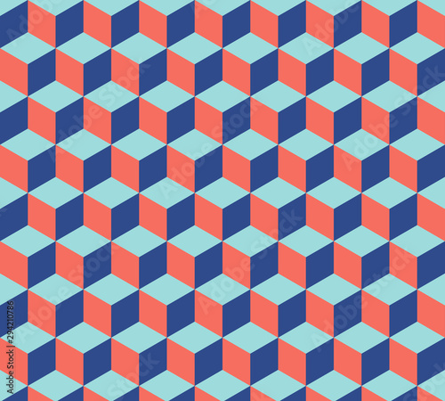 Cubes pattern. Abstract geometric background Wallpaper Mural
